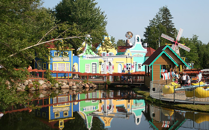 StoryLand shot of colorful buildings