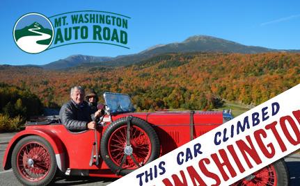 Mt. Washington Auto Road with old car