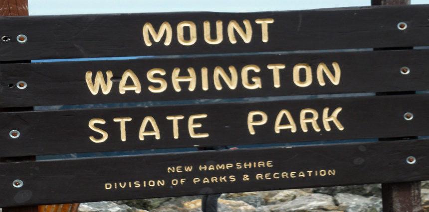 Mount Washington State Park sign